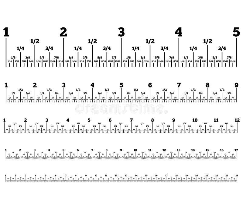 mätande band vektor illustrationer
