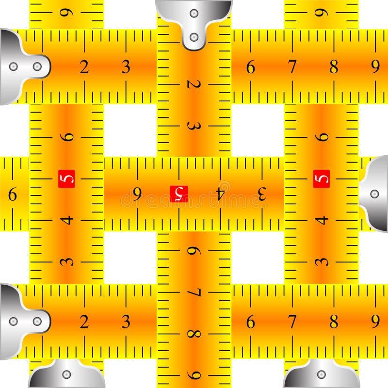 mätande ingreppsband stock illustrationer