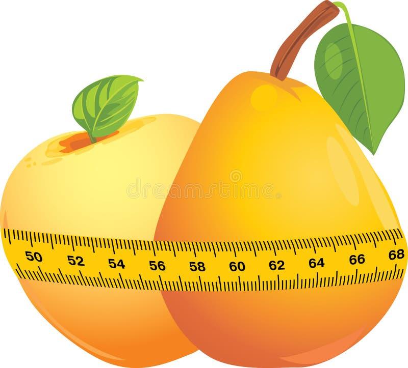 mätande pearband för äpple stock illustrationer