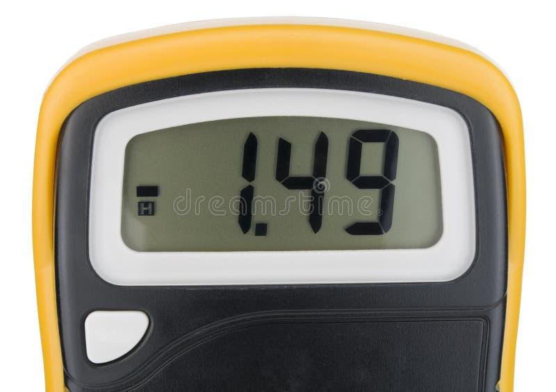 mätning för apparatskärmelektricitet royaltyfri fotografi