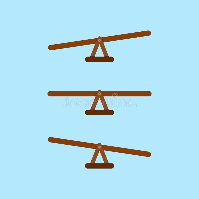 Mätning för gungbrädevektorjämvikt royaltyfri illustrationer