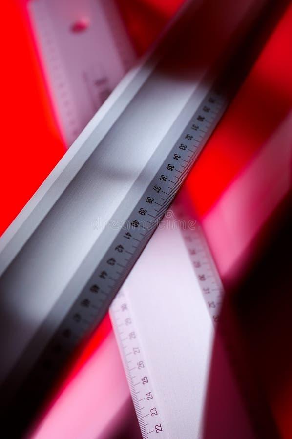 mätningsmetallhjälpmedel arkivfoto