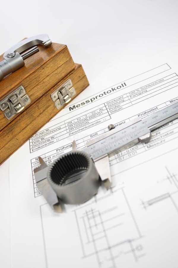Mätningsrapport arkivbild