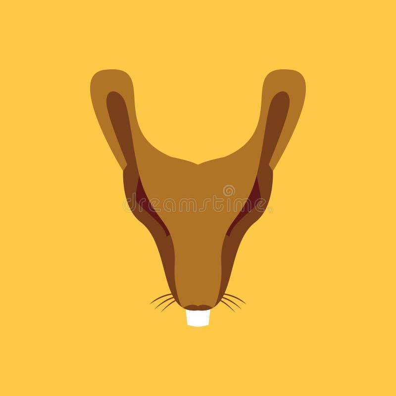 Mäusegesichtslogo stock abbildung