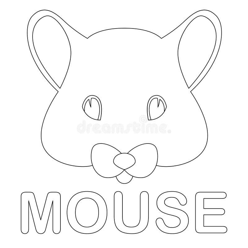 Mäusegesichtsvektorillustrations-Malbuchfront lizenzfreie abbildung