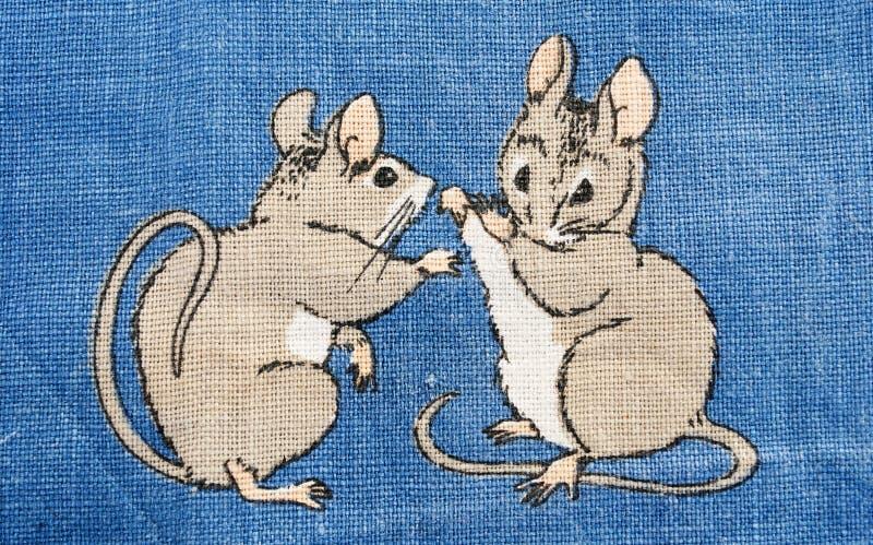 Mäusekampf lizenzfreie abbildung