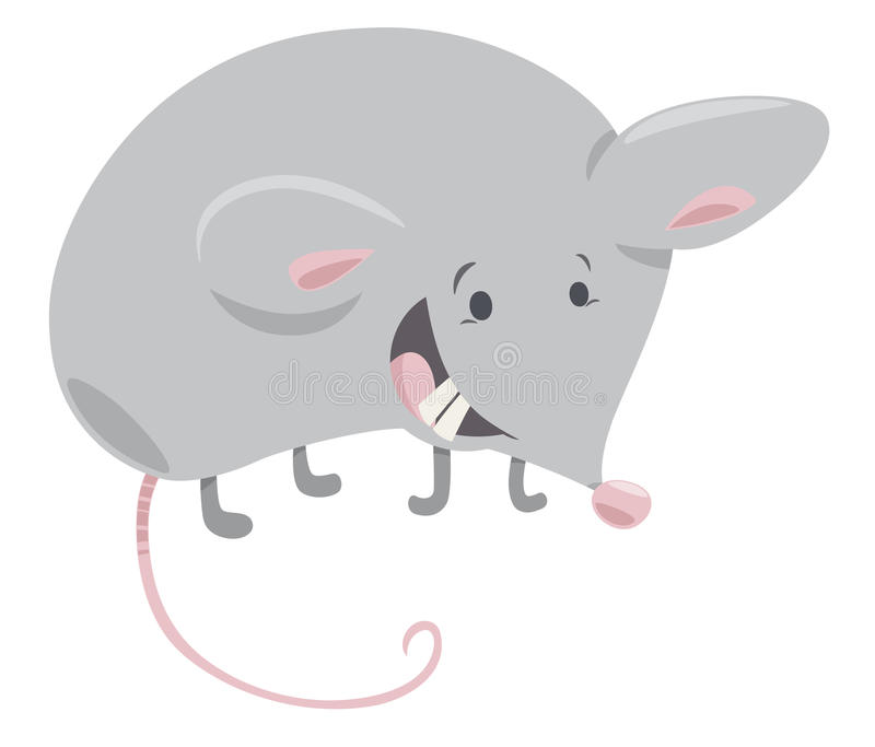 Mäusekarikaturillustration vektor abbildung