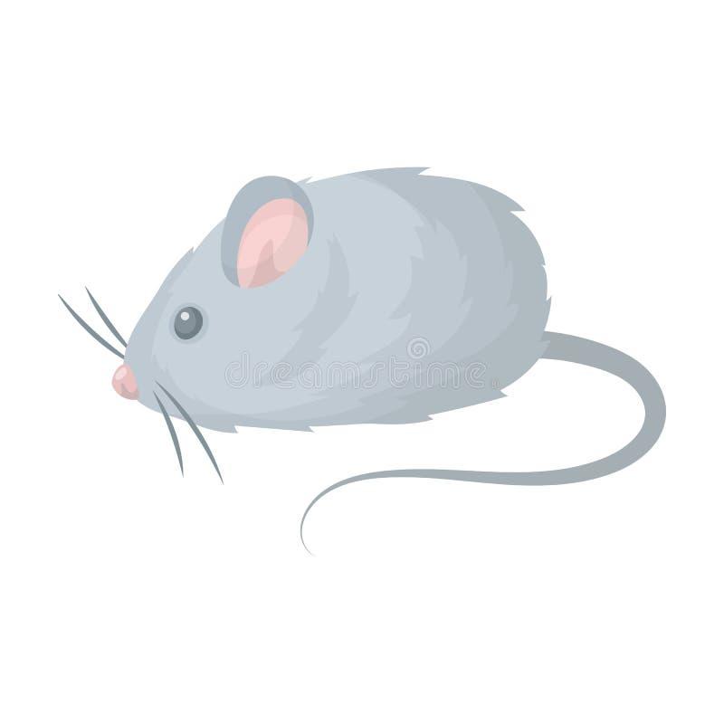Mäusespielzeug Einzelne Ikone des Geschäftes für Haustiere im Karikaturartvektorsymbolvorrat-Illustrationsnetz stock abbildung
