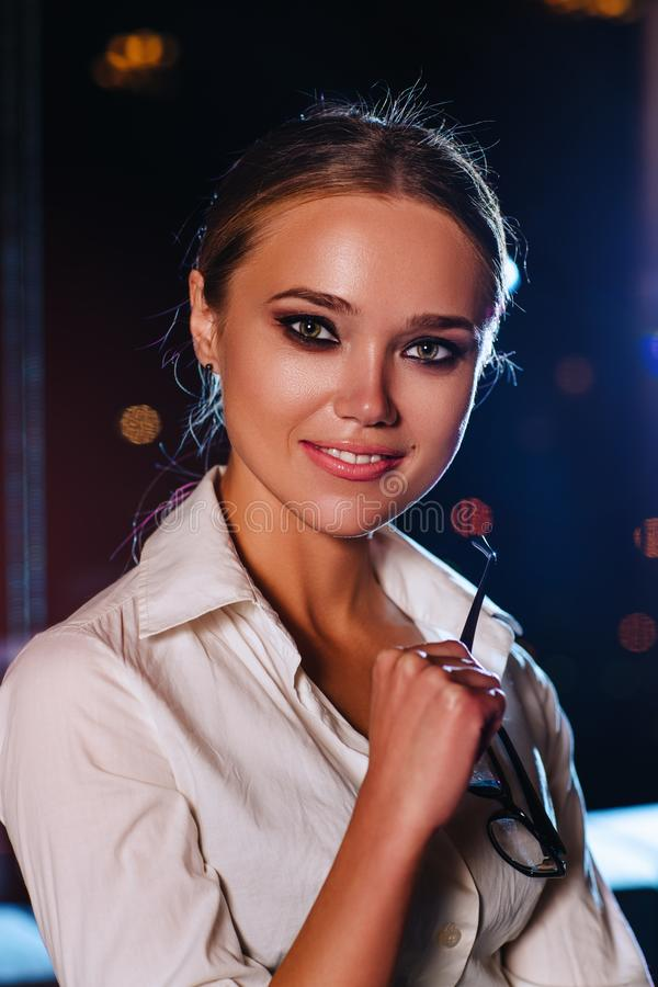 Młoda biznesowa kobieta obrazy royalty free
