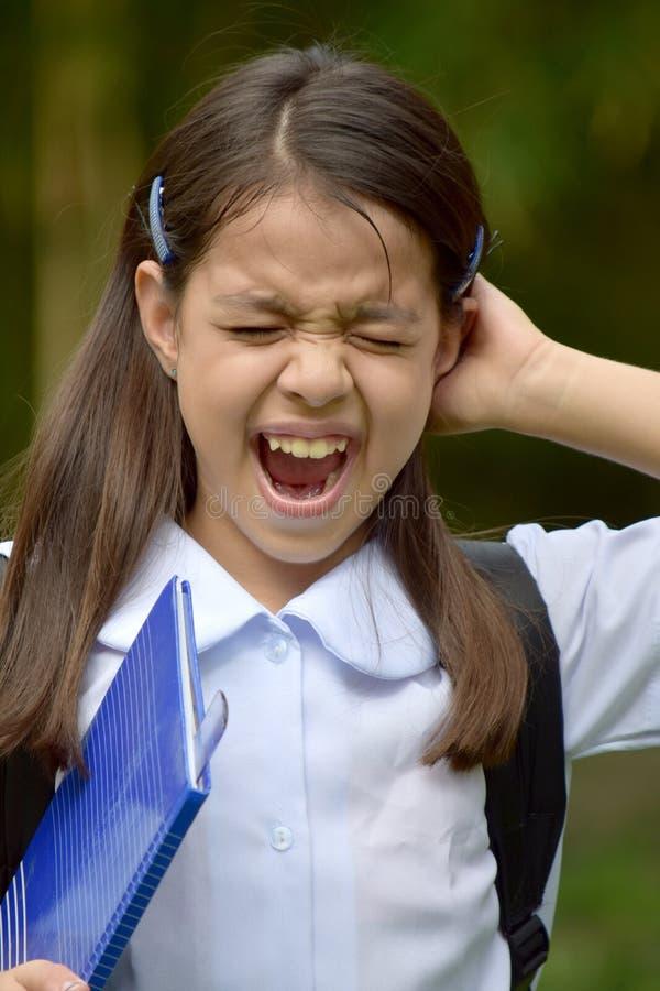 Młody filipinka dziewczyny uczeń Pod stresem obraz royalty free
