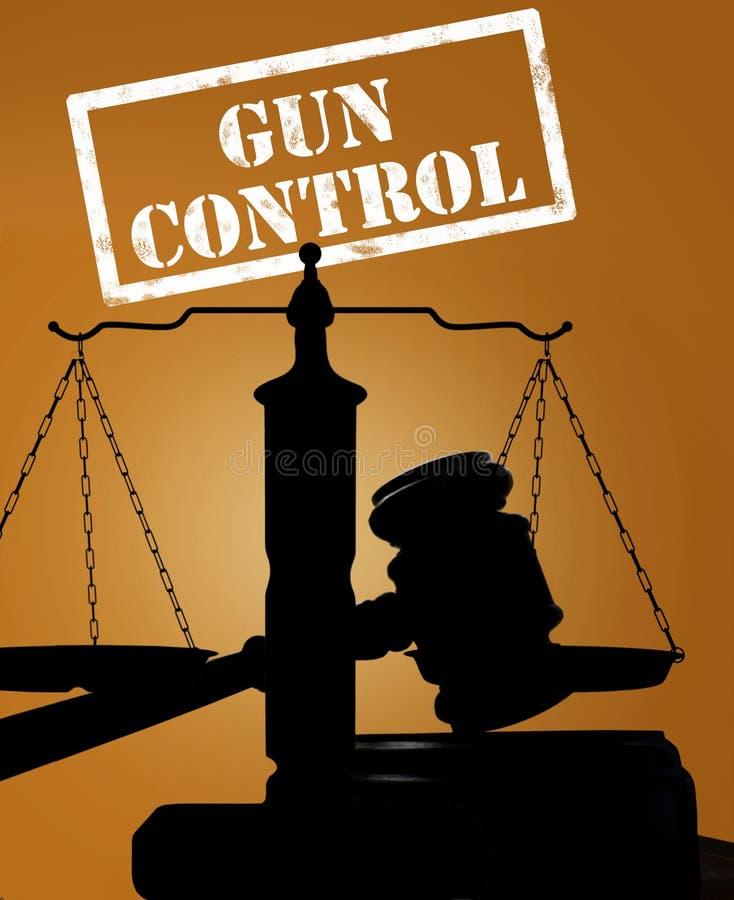 Młoteczek i kontrola broni palnej zdjęcie stock