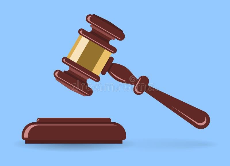 Młoteczkowy sędzia lub aukcja ilustracja wektor