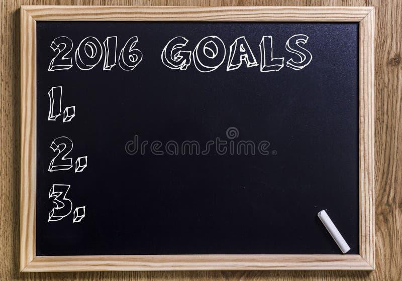 2016 mål royaltyfri foto