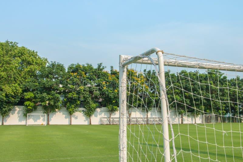 Mål av fotboll- eller fotbolltypsporten fotografering för bildbyråer