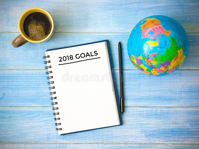 2018 mål Begrepp för affärsplan royaltyfria bilder