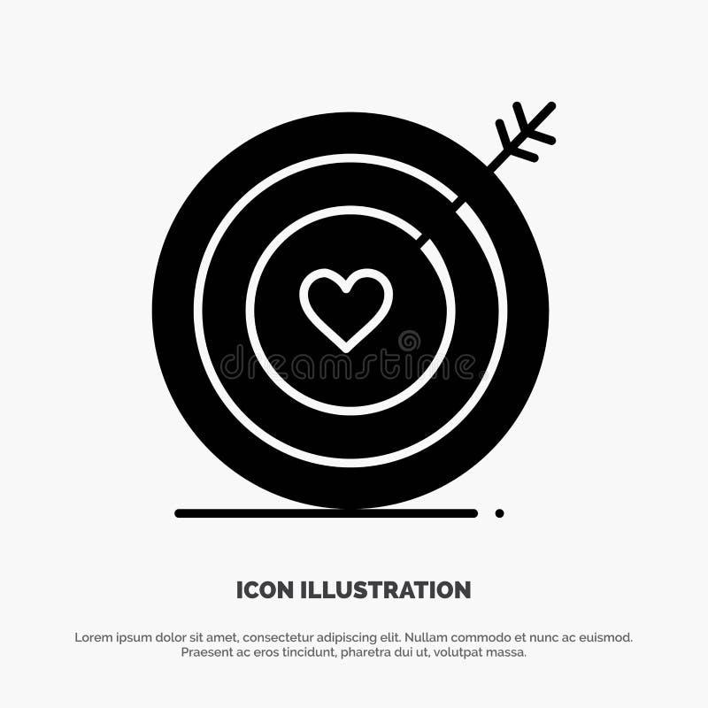 Mål förälskelse, hjärta, för skårasymbol för bröllop fast vektor vektor illustrationer