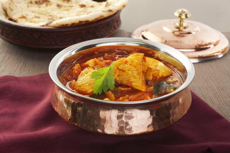 Mål för Madras fegt indiskt currymat arkivfoton