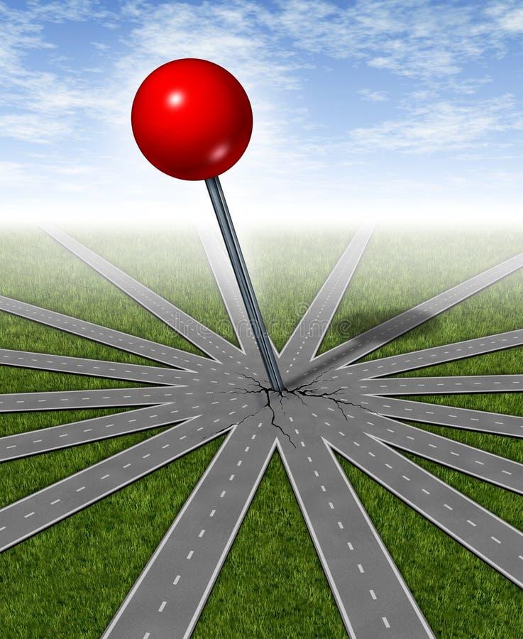 mål som ställer in strategi stock illustrationer