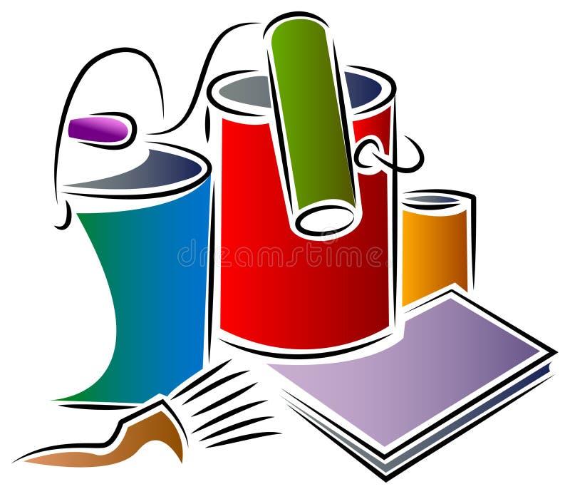Måla design stock illustrationer