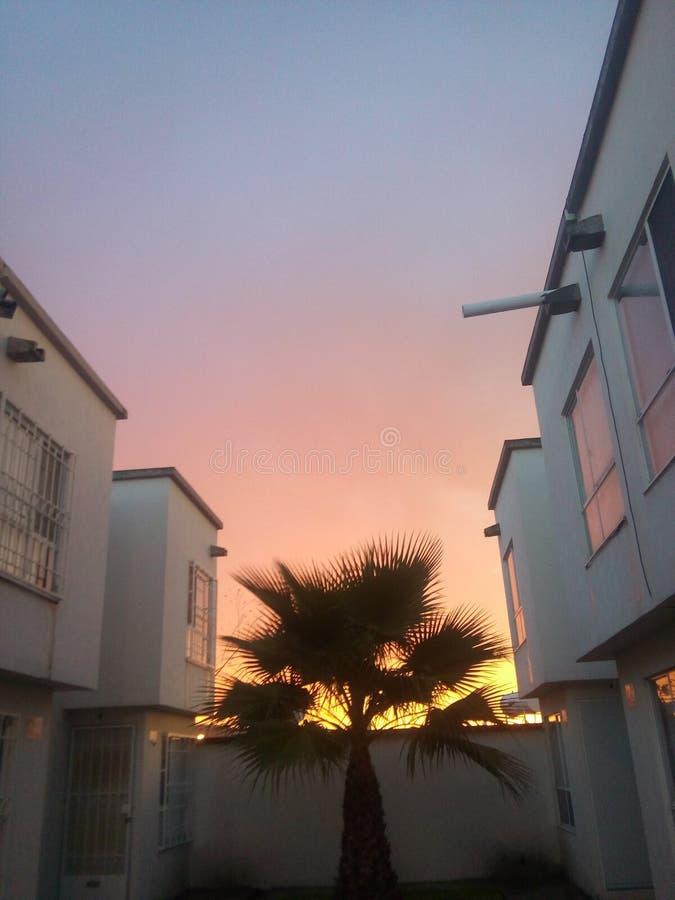 Måla himlen för rött arkivbilder
