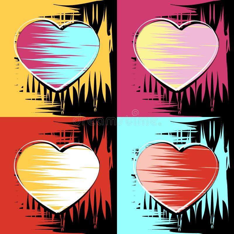 Måla i stilen av Andy Warhol vektor illustrationer
