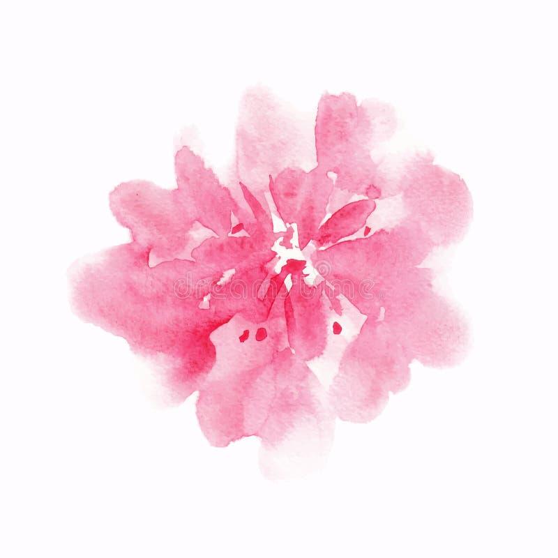 Måla med dekorativa blommor vektor illustrationer
