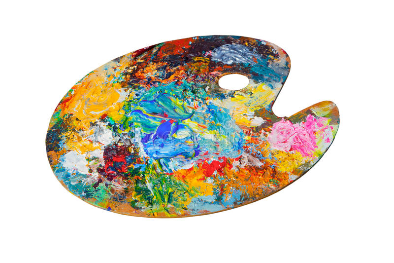 måla paletten arkivbilder