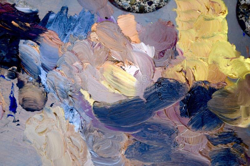 måla paletten arkivbild