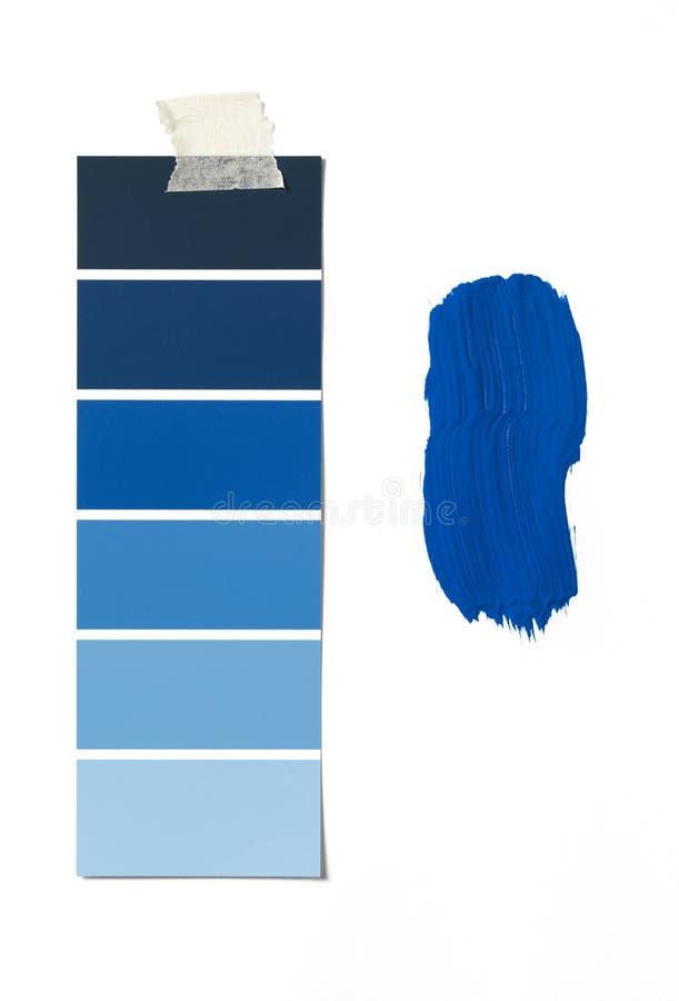 måla provkartan fotografering för bildbyråer
