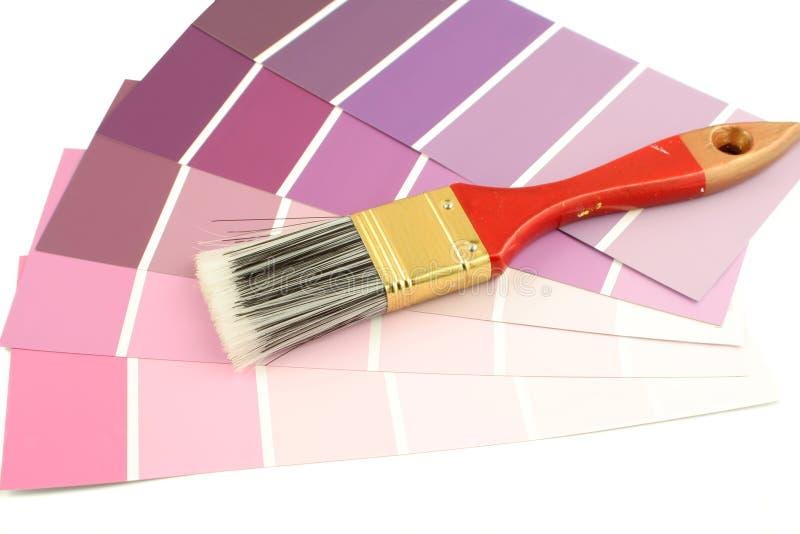 måla provkartor arkivbild