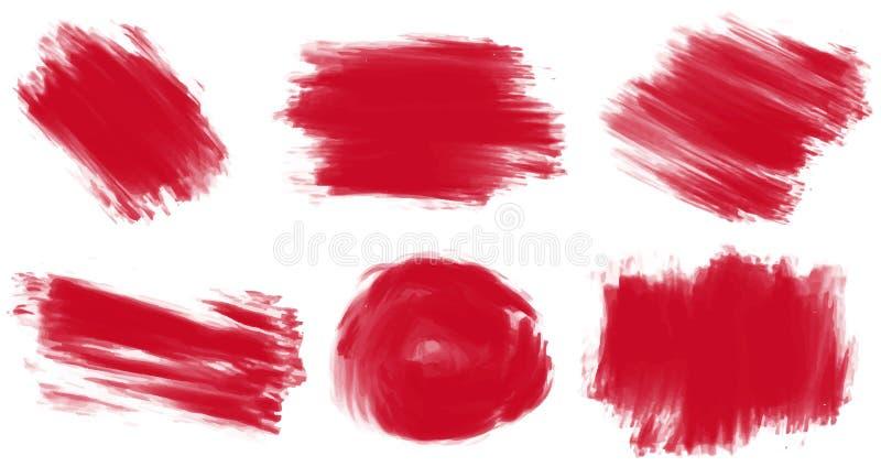 måla red vektor illustrationer