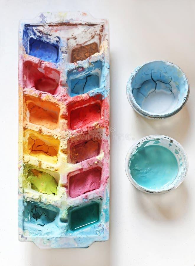 måla redslaglängdvattenfärgen vit royaltyfri foto