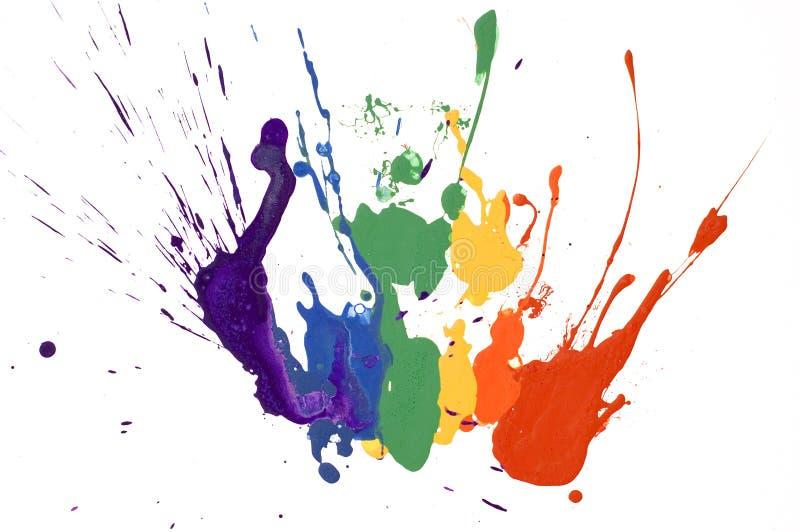 måla regnbågen royaltyfri illustrationer