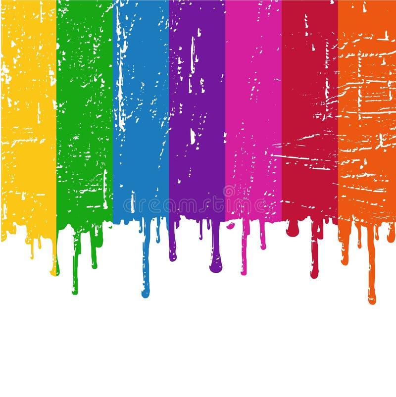 måla regnbågevektorn royaltyfri illustrationer