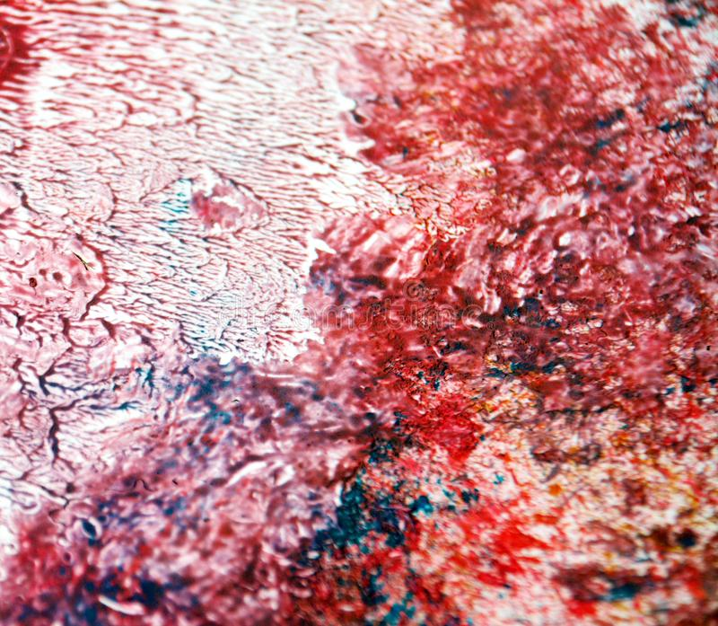 Måla rosa vit röd blå abstrakt bakgrund för blått, vattenfärgakryl som målar abstrakt bakgrund arkivfoton