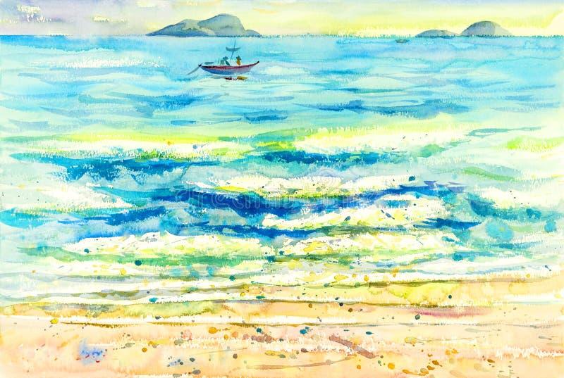 Måla som är färgrikt av reflexioner på vattnet och sinnesrörelsen vektor illustrationer