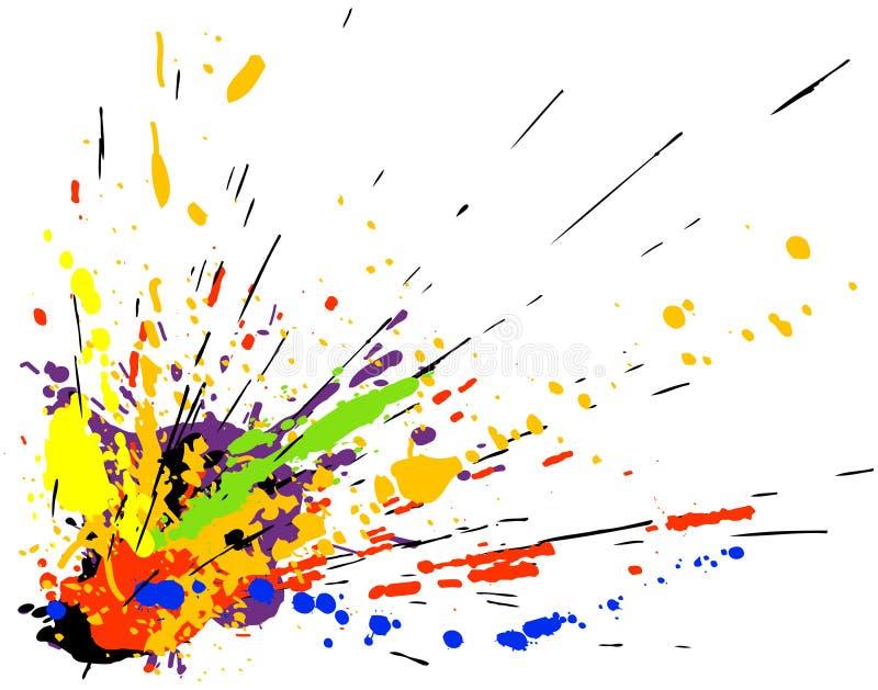 måla splatteren vektor illustrationer