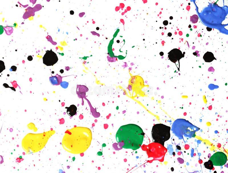 måla splatteren royaltyfria bilder