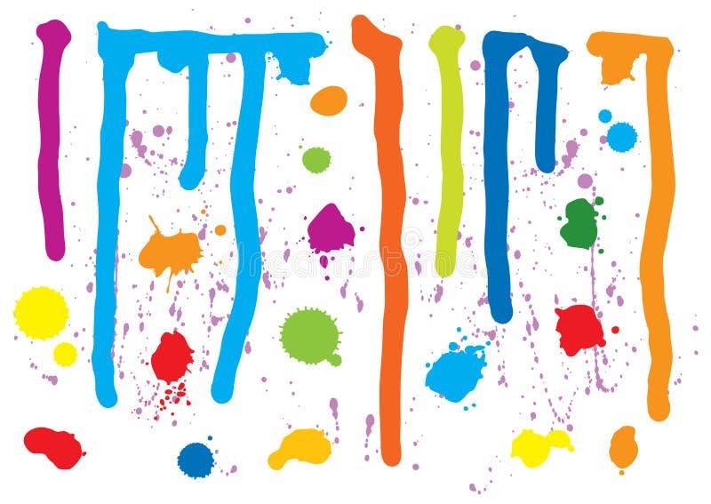 måla splatters stock illustrationer