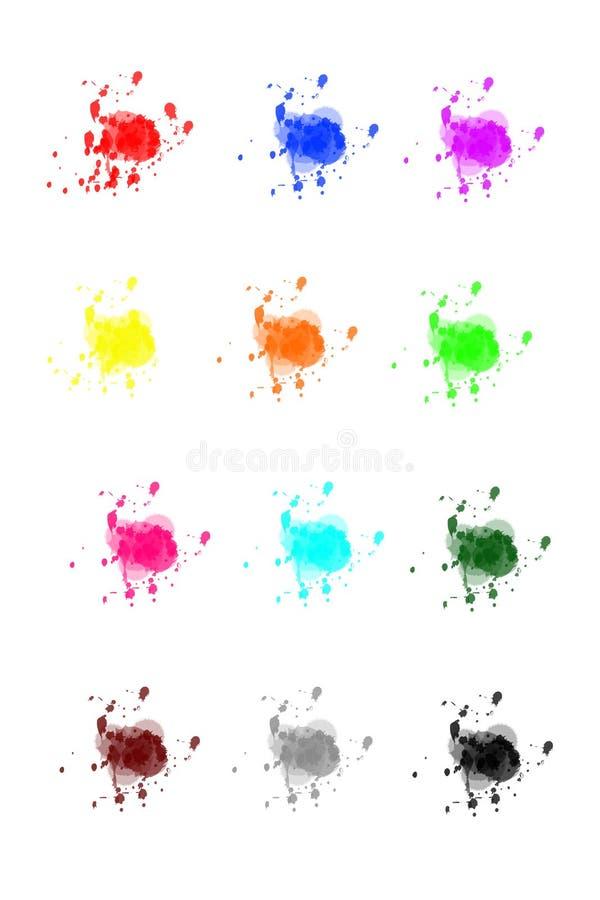 måla splatters royaltyfri illustrationer