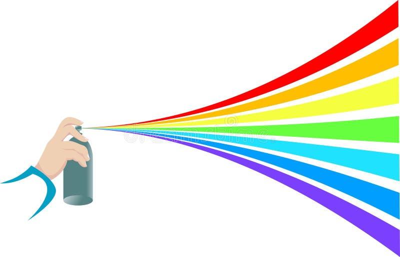 måla spray vektor illustrationer