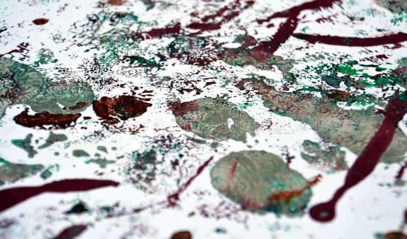 Måla vit purpurfärgad abstrakt bakgrund för silver royaltyfri bild