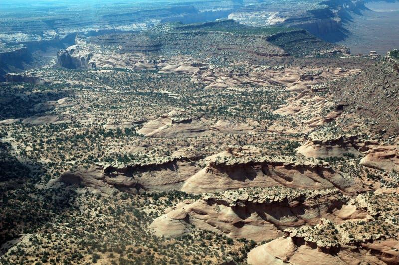 Målad öken i Arizona, USA som ses från flygplanet arkivbild