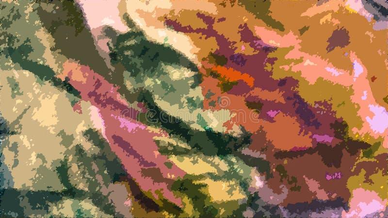 målad abstrakt bakgrund Färgrika vätskeeffekter Grungelappar spridda på bakgrund Bra för: Väggkonst, kort, dekor royaltyfri illustrationer