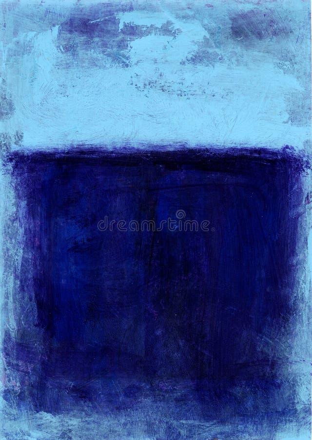 målad abstrakt blue royaltyfri illustrationer