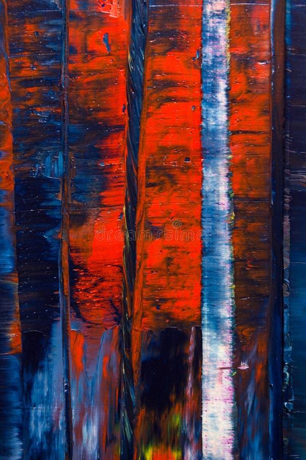 målad abstrakt kanfas Olje- målarfärger på en palett stock illustrationer
