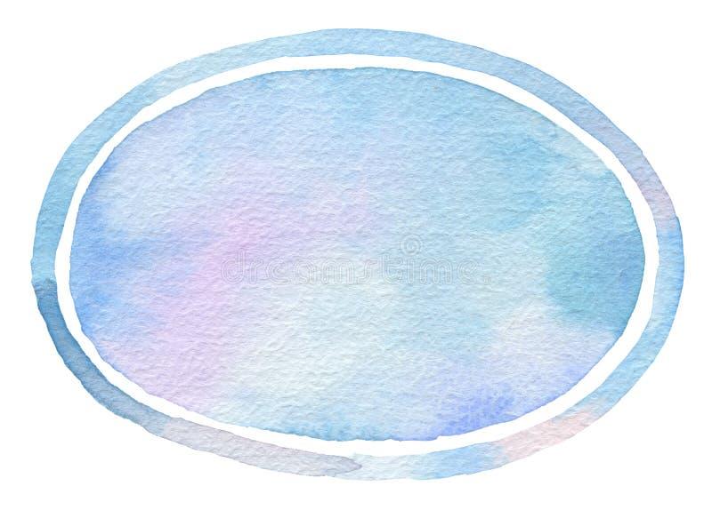 Målad bakgrund för ellips vattenfärg arkivbild
