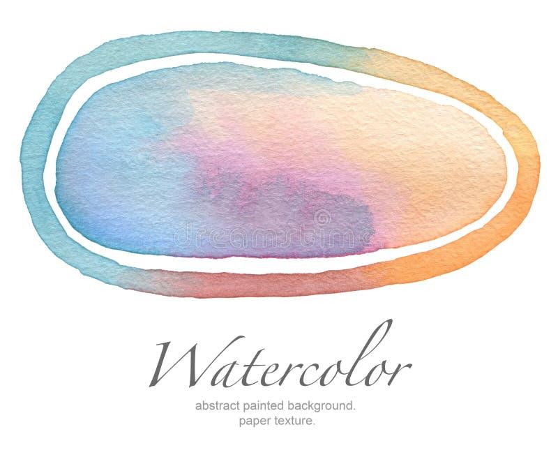Målad bakgrund för ellips vattenfärg royaltyfri bild