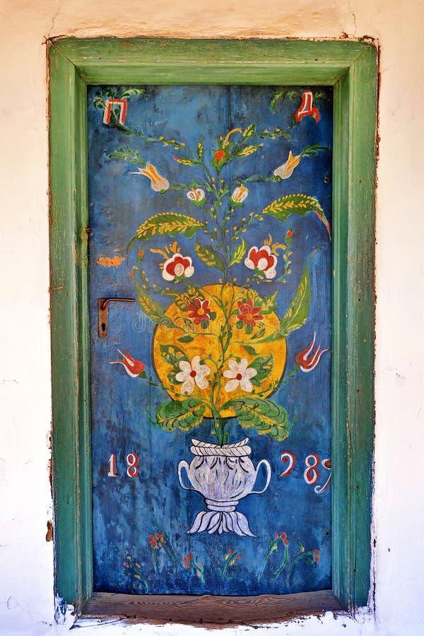 målad dörr royaltyfri foto