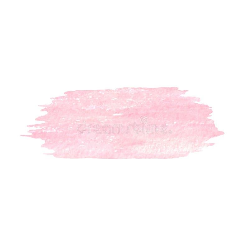 Målad delikat isolerad rosa färgtextur för vektor hand arkivbilder